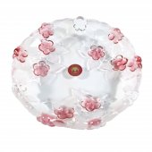 Platou decorativ  rotund CARMEN SATIN ROSE