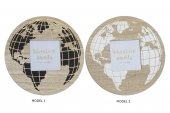 Rama foto rotunda WORLD MAP, 17X1 CM - 2 modele